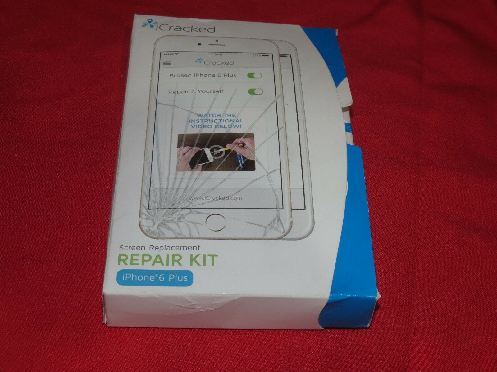 Icracked screen replacement repair kit iphone 6 plus white ebay resntentobalflowflowcomponentncel solutioingenieria Gallery