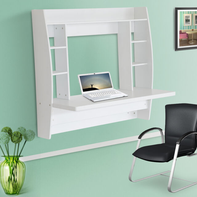 white bedroom desks. New Wall Mounted Table Office Bedroom Computer Desk Home Furniture White  eBay