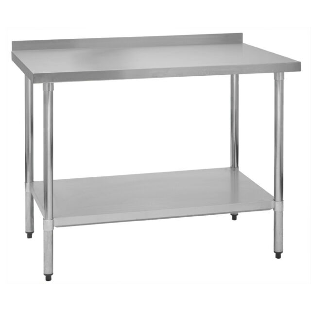 stainless steel commercial kitchen work prep table 24 x 60 g ebay rh ebay com used commercial kitchen work tables gridmann stainless steel commercial kitchen prep & work table