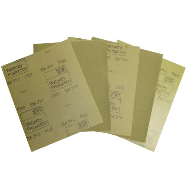 3M Naß Schleifpapier 10 Blatt Wasserschleifpapier 230x280mm P800  für Autolack
