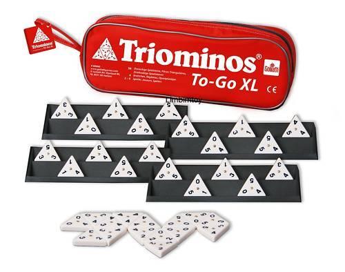 Triominos To Go XL mit Bänken von Goliath ähnlich Domino - Reisespiel mit Tasche
