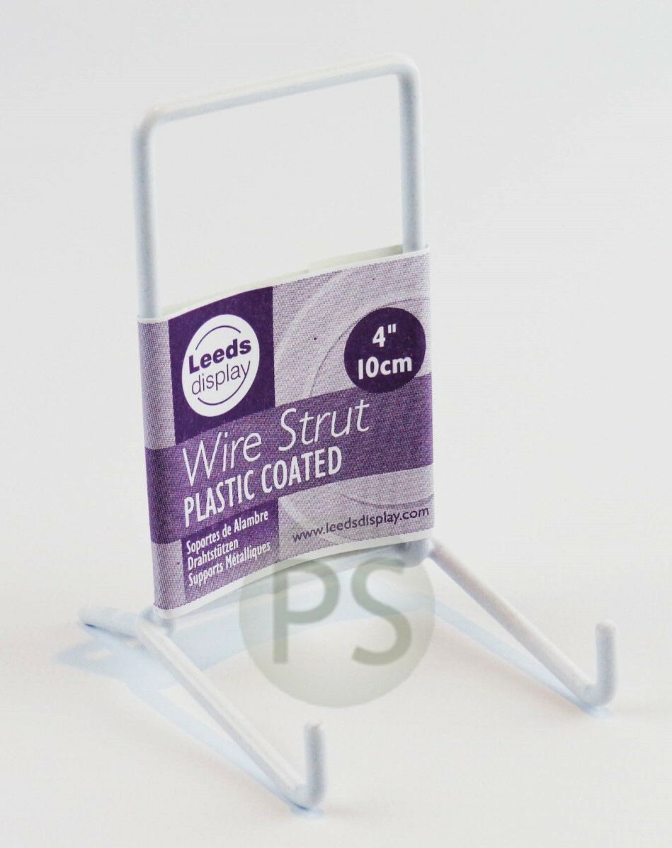 White Wire Strut Display Stands 2.5\