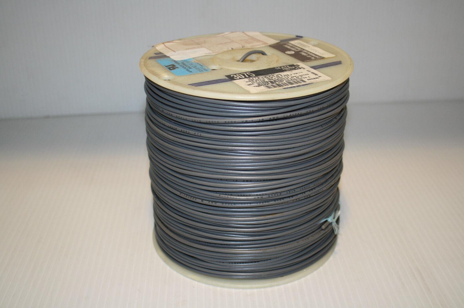 Alpha Wire 3075 Hook-up Strnd 18awg Slate 1000\' 3075 Sl001 | eBay