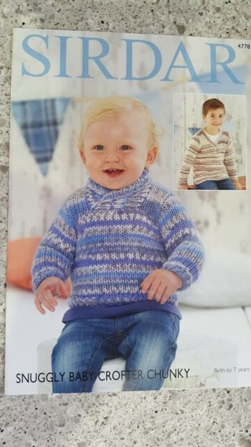 Sirdar Knitting Pattern 4778 Baby Sweaters To Knit For Birth To 7