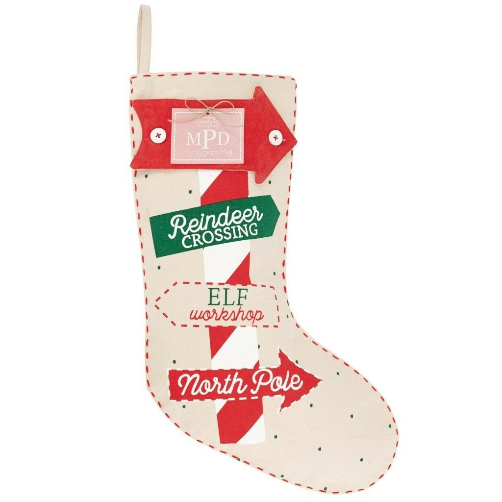 Mud Pie H7 Christmas Baby Boy Girl Monogram Me Stocking 4685022 ...