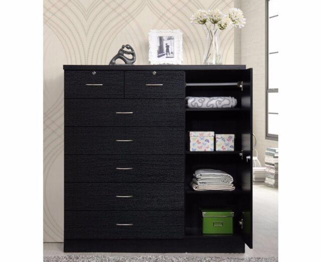 Bedroom Storage Dresser 7 Drawer Furniture Clothes Cabinet Chest ...