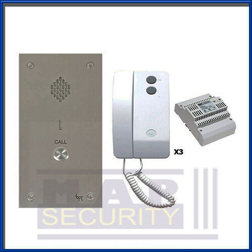 Bpt 1 Way Audio Intercom Door Entry Kit With Stainless Panel 3x