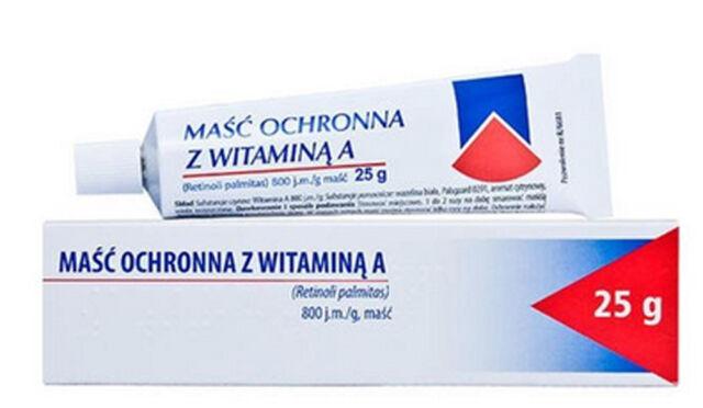 masc z witamina A vitamin ointment retinol Acne burns antiwrinkle eczema healing