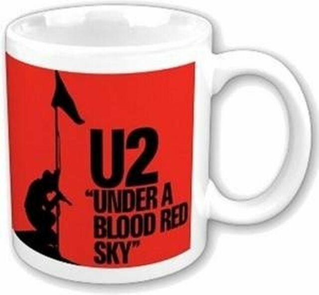 U2 Under A Blood Red Sky Logo Boxed White Coffee Gift Mug Official Album Cover