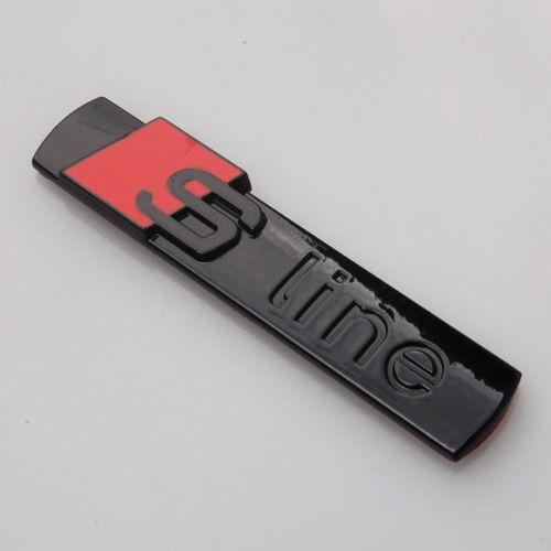 audi s line black gloss badge rear boot emblem s line a 1. Black Bedroom Furniture Sets. Home Design Ideas