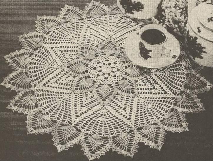 Vintage Crochet Pineapple Doily Centerpiece Pattern | eBay