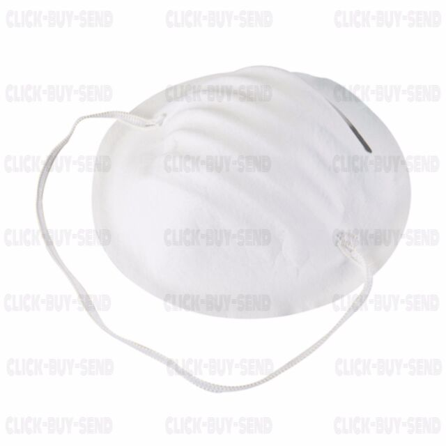 50 X SILVERLINE DISPOSABLE CUP MASKS COMFORT DUST MASK RESPIRATOR FACE MASK NEW