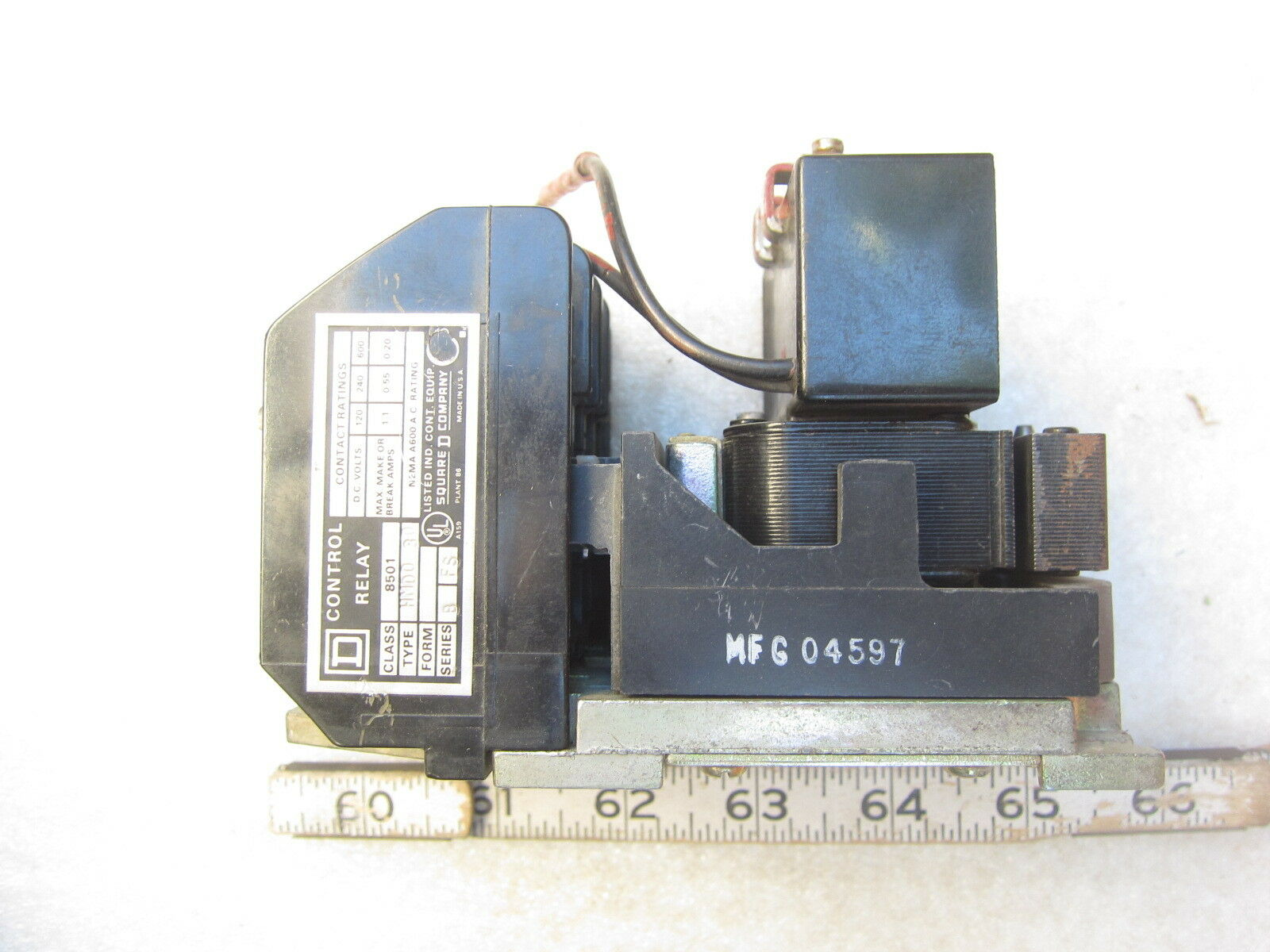 Square D 8501 Hmd030 4p 24vdc Coil No Nc Relay Ebay With And Contacts Pre Owned Lowest Price