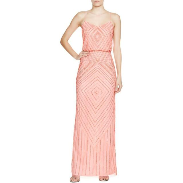 Aidan Mattox 5030 Womens Pink Mesh Prom Blouson Semi-formal Dress ...