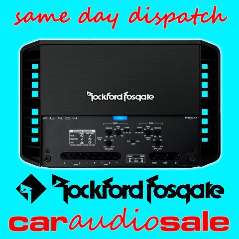 ROCKFORD FOSGATE PUNCH P400X4 400 WATT 4 CHANNEL BRIDGEABLE POWER AMPLIFIER