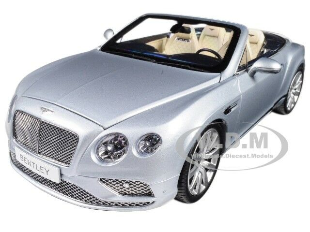 2016 Bentley CONTINENTAL GT Convertible Silver Frost 1/18 by Paragon ...