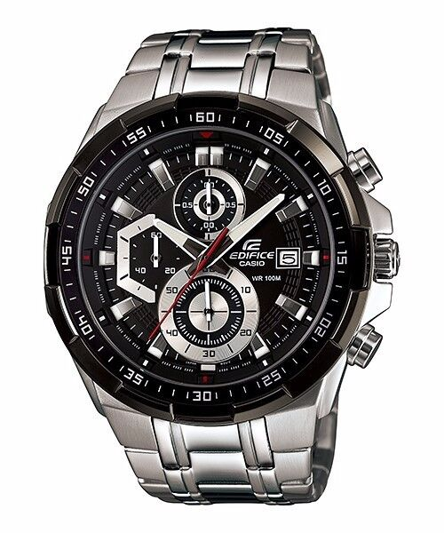 EFR-539D-1A Black Casio Men's Watch Edifice Brand-New 100M Chronograph