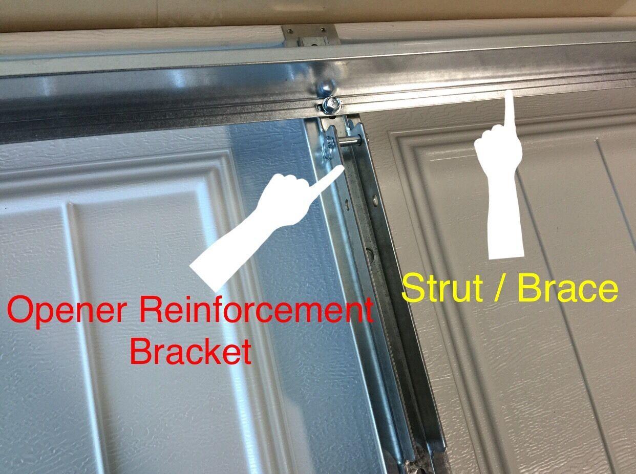Door strut martin garage door adjustable strut for Clopay hurricane garage doors