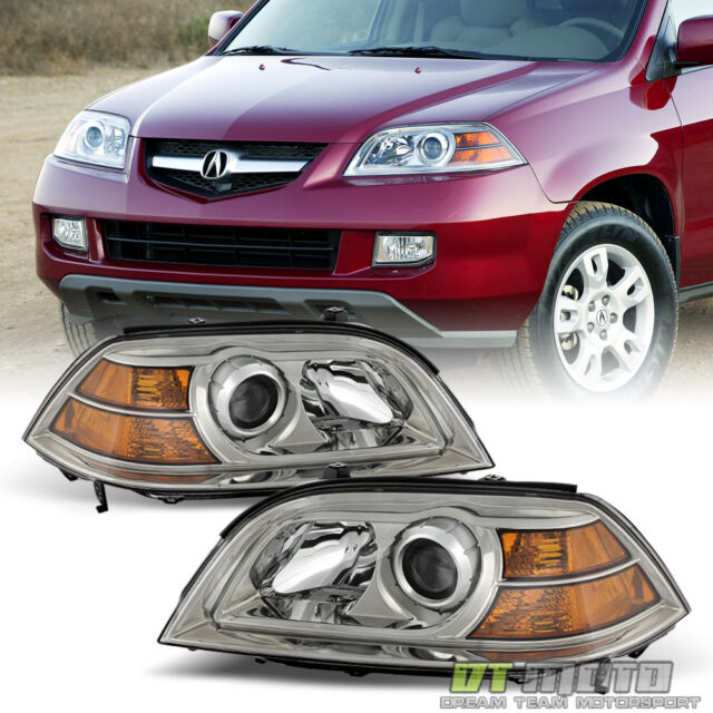2004 2005 2006 Acura MDX Replacet Crystal Headlights Headlamps ...