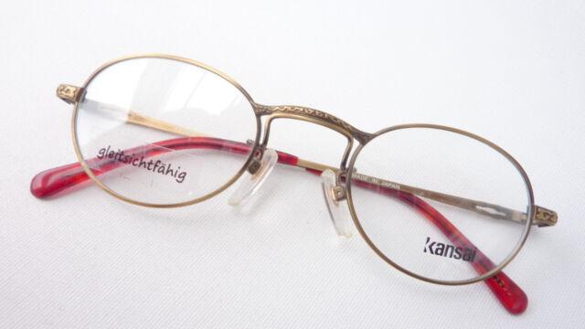 Brillengestell Brille Metall Fassung oval antikgold Klassikstil Kansai size M
