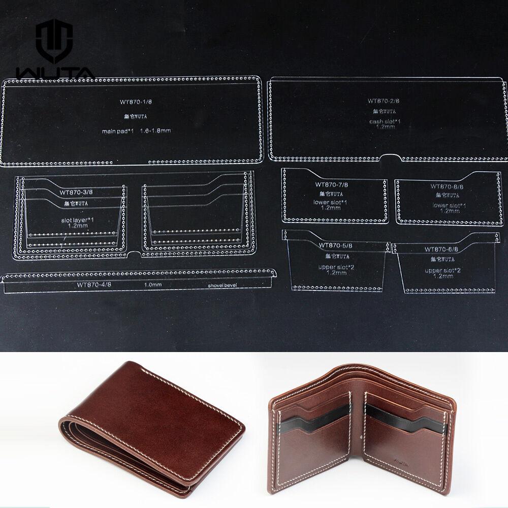 Wuta Handmade Short Wallet Template Leathercraft Pattern Set Clear ...