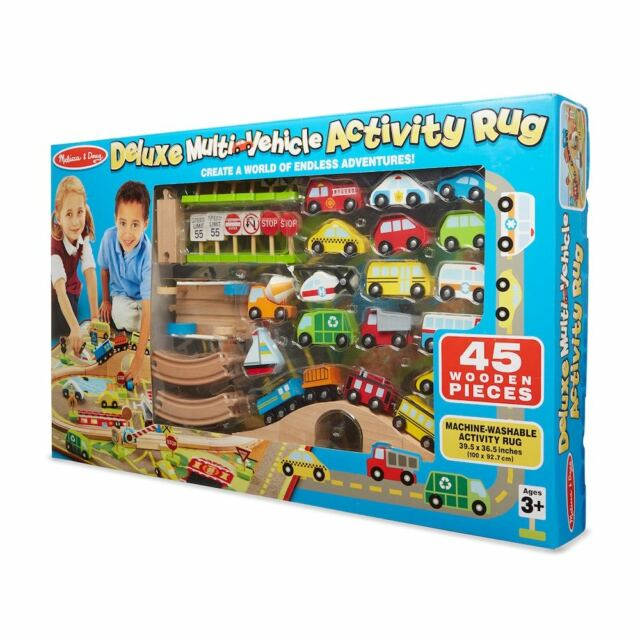 Melissa Doug Deluxe Multi Vehicle Activity Rug Item 93085