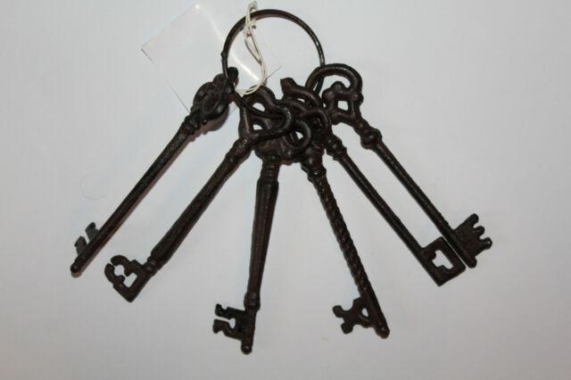 Schlüssel Schlüsselbund Hauseinweihung Deko Gußeisen Garten Vintage Richtfest