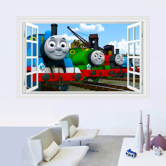 3D Windows Vinyl Thomas Friends Train Gordon Railway Wall Decal Decor  Sticker