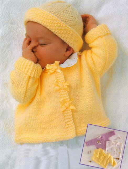 Easy Beginner Baby Jacket Sweater Bolero Hat 17 23 Dk Knitting