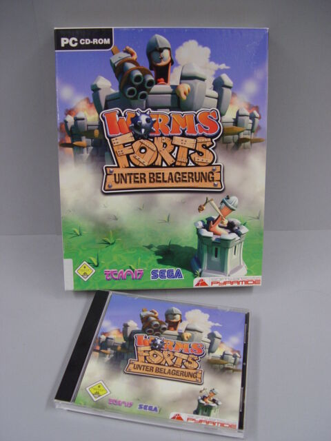 Worms Forts - Unter Belagerung (PC, 2005, DVD-Box) TOP