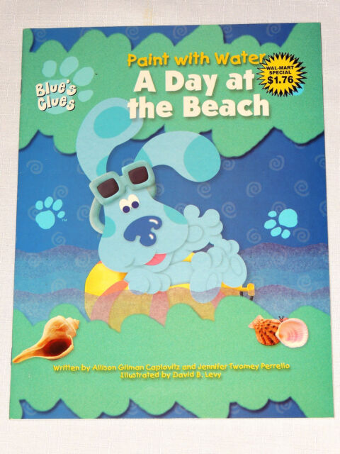 Blues clues paint with water coloring book a day a the beach from 1999
