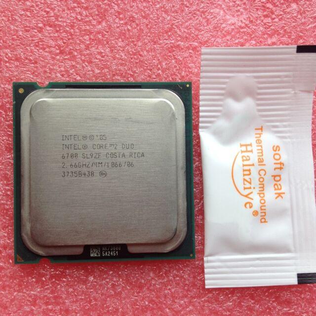 Intel Core 2 Duo E6700 SL9ZF SL9S7 1066MHZ 2.66GHz 4MB Dual-Core CPU Prozessoren