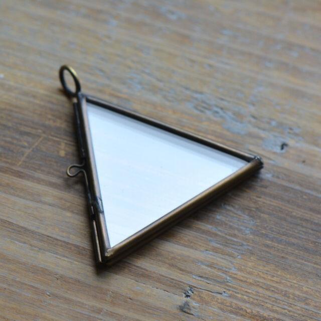 Antique bronze twosided glass triangle frame pendant hinged locket antique bronze twosided glass triangle frame pendant hinged locket vintage style aloadofball Gallery