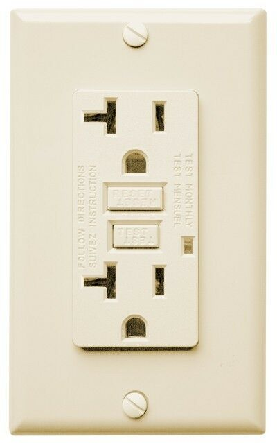 GFI GFCI Outlet 20 Amp 120v With LED 10pack Ivory | eBay