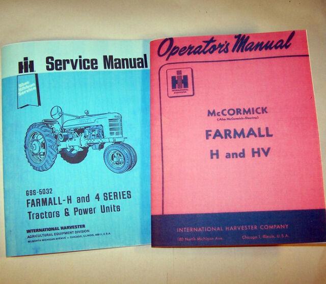 farmall h hv tractor service operators owners manual shop repair rh ebay com Farmall Super H Repair Manual Farmall Model H Tractor