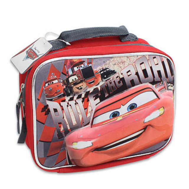 Lunch Bag Insulated Pop Out 3D Cars McQueen Red Black New