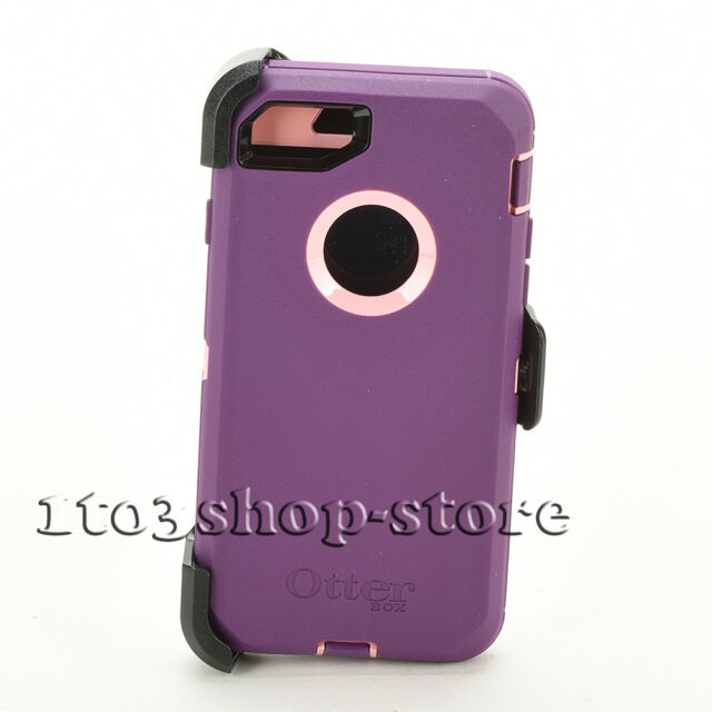OTTERBOX Defender Series Purple Case Belt Clip Holster IPhone 8