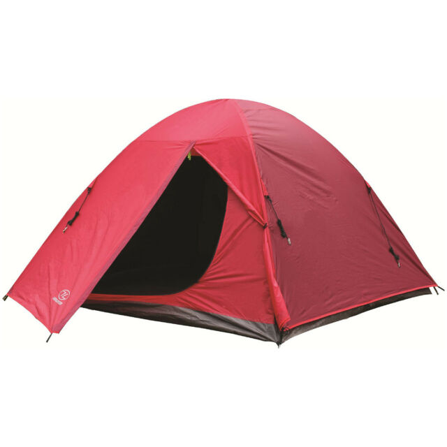 Highlander Birch 3 Person Dome Tent Easy Pitch Backpacking C&ing Festivals Red  sc 1 st  eBay & Highlander Birch 3 Person Dome Tent Easy Pitch Backpacking Camping ...