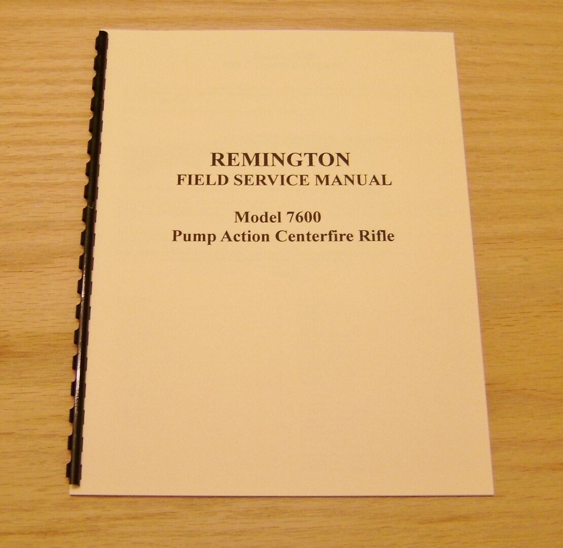 remington model 7600 and model 6 field service repair manual 3 ebay rh ebay com Remington 7600 with Scope Best .308 Rifle