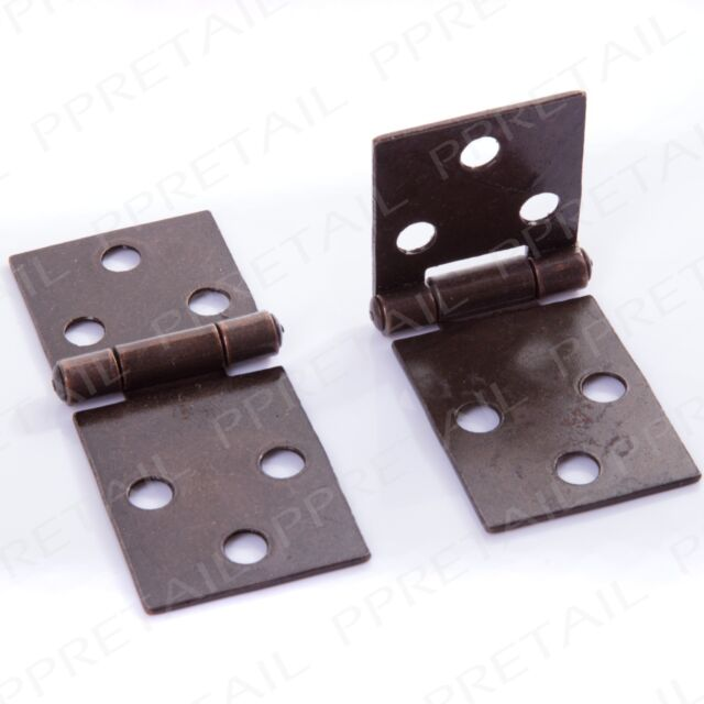 2 X Folding Table Hinges ANTIQUE BRASS 32mm Cabinet Furniture Backflap  Counter
