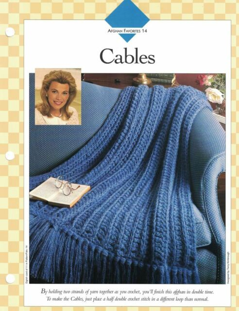 Cables Afghan To Crochet Single Pattern Vanna White Ebay
