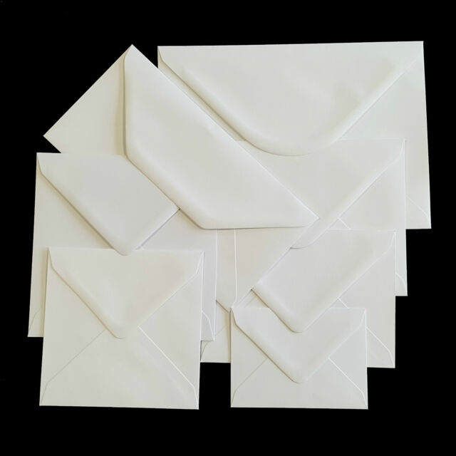 Plain white envelopes 100gsm for greeting cards party invitations picture 2 of 2 m4hsunfo