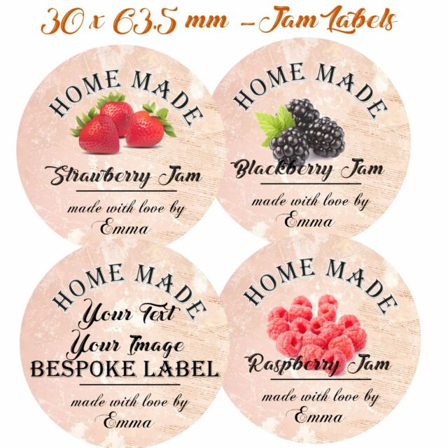 24 x 63 5 mm personalised jam pot stickers homemade preserves conserve labels