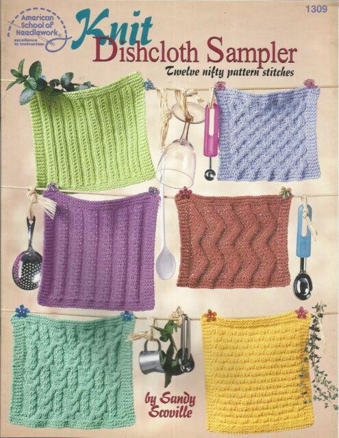 Knit Dishcloth Sampler Sandy Scoville Knitting Dishcloths Patterns ...