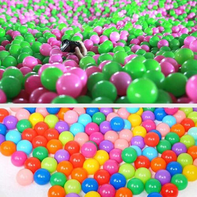 Play Balls 100 Multi Coloured Ball Plastic Kids for Childrens Pool ...
