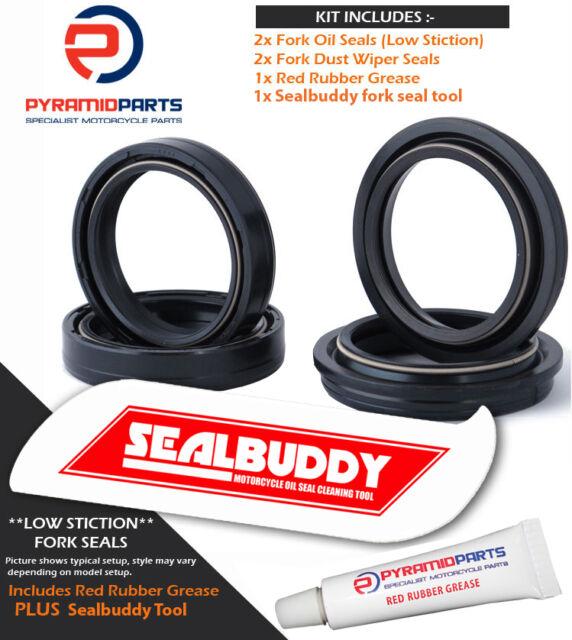 Pyramid Parts Fork Seals Dust Seals & Tool Suzuki RM125 01-08 47mm