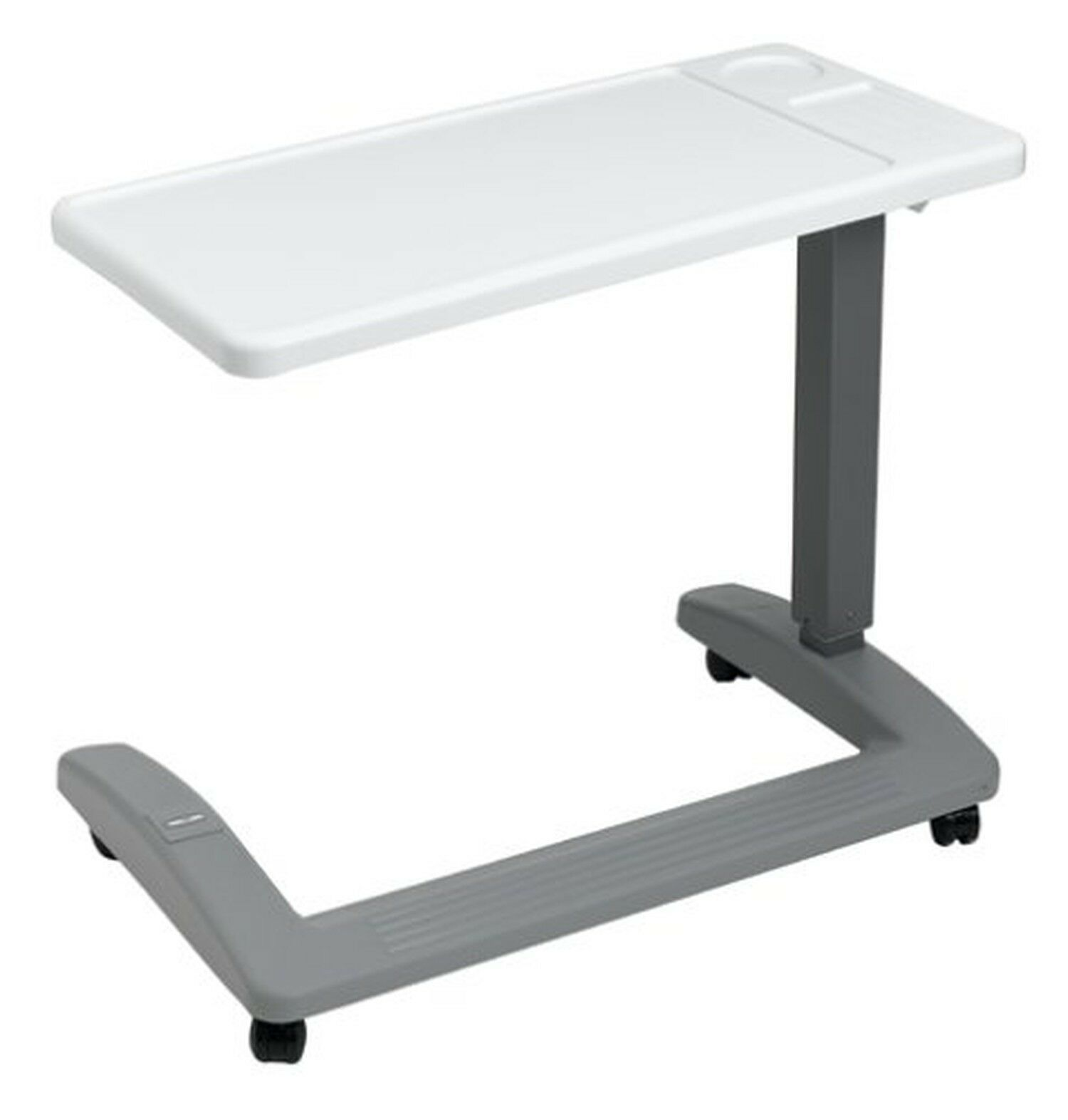 overbed hospital table rolling bed tray adjustable ht wheelchair