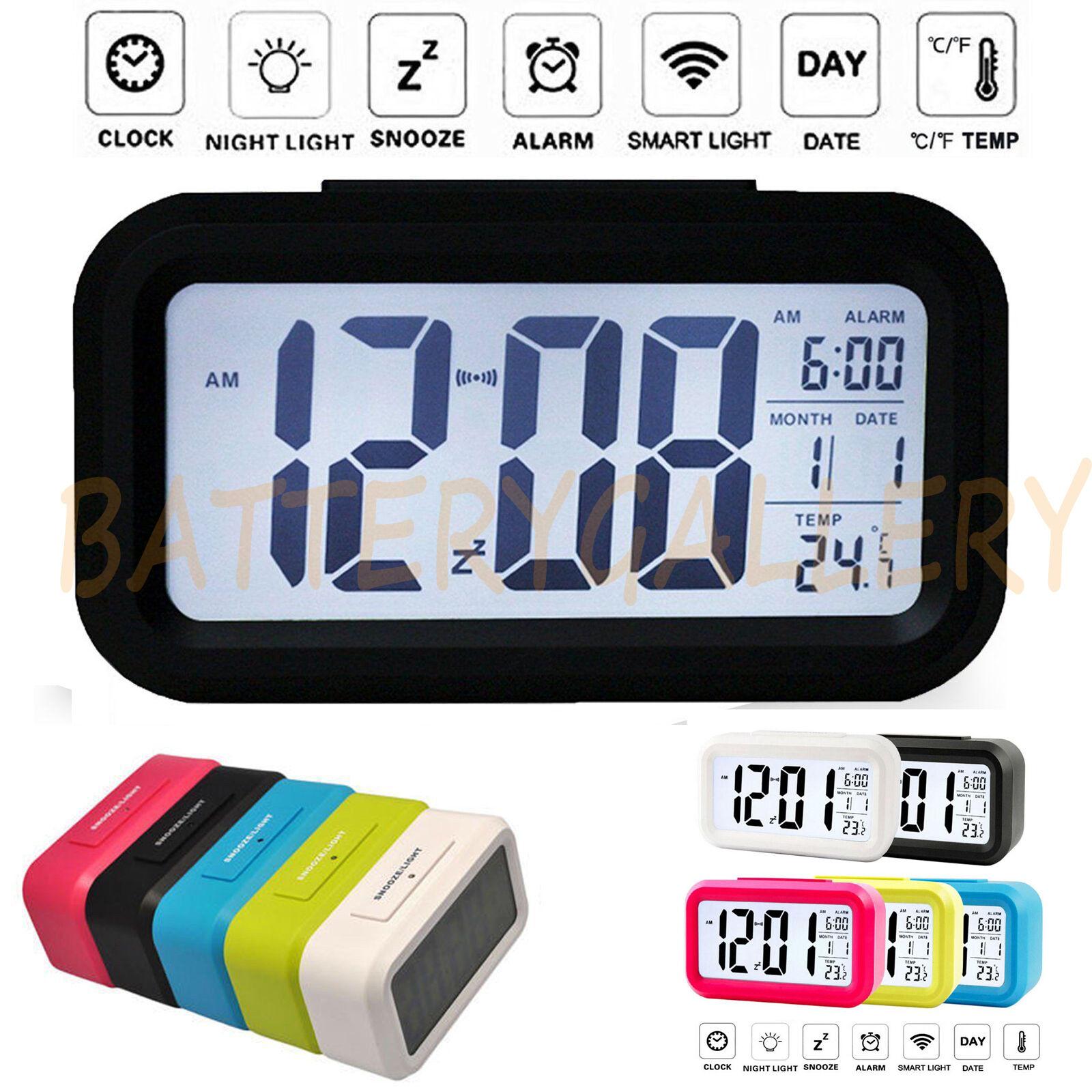 Led calendar clock ebay digital snooze led alarm clock backlight time calendar thermometer temperature amipublicfo Image collections