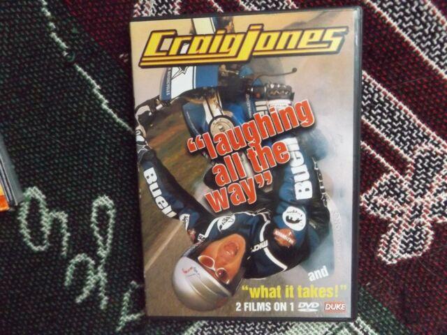 CRAIG JONES - LAUGHING ALL THE WAY & WHAT IT TAKES - REGION 0 DVD - DUKE