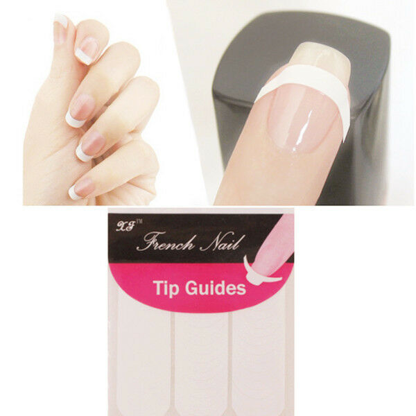 10sheets French Manicure Tip Guides Strip Nail Art Toes Stencil